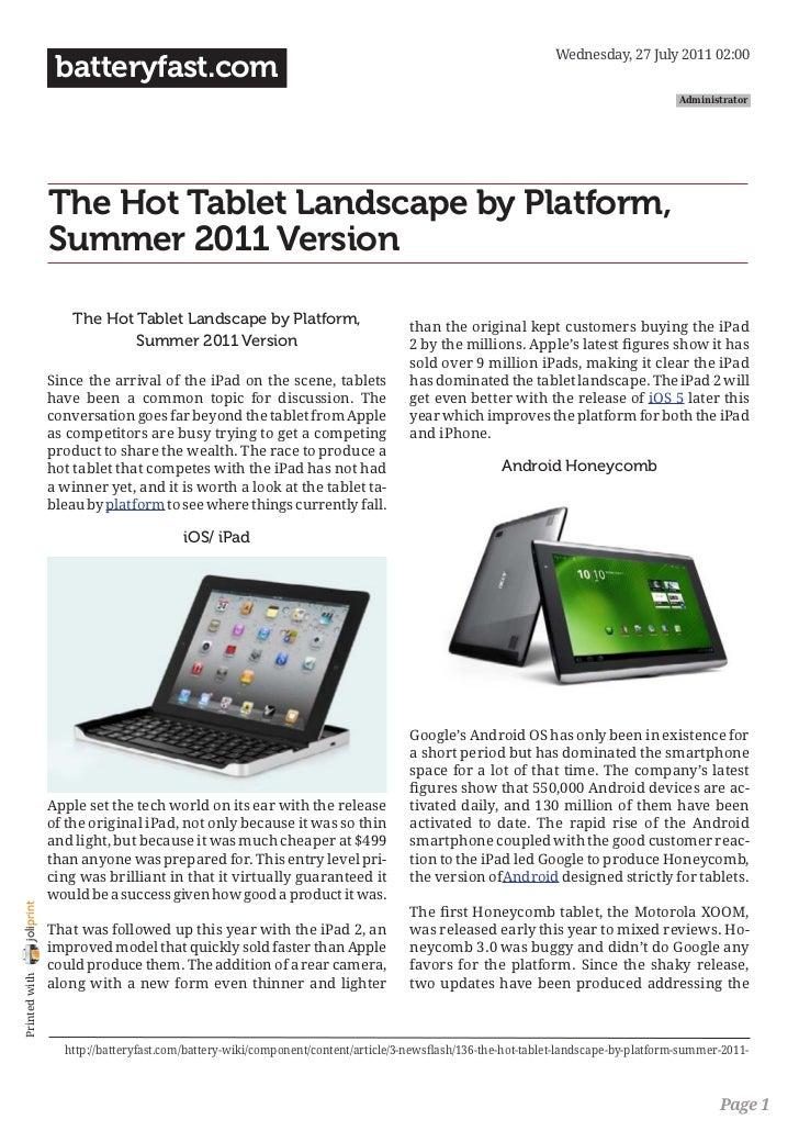Wednesday, 27 July 2011 02:00                 batteryfast.com                                                             ...
