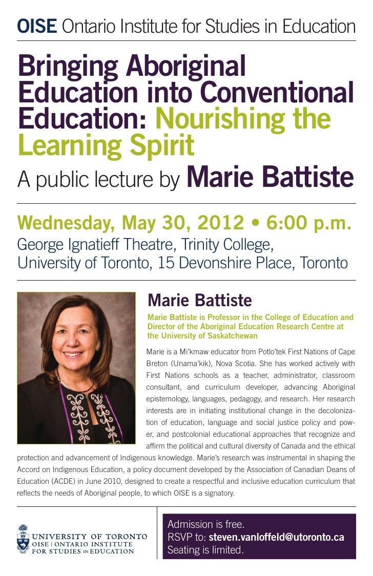 Battiste lecture poster