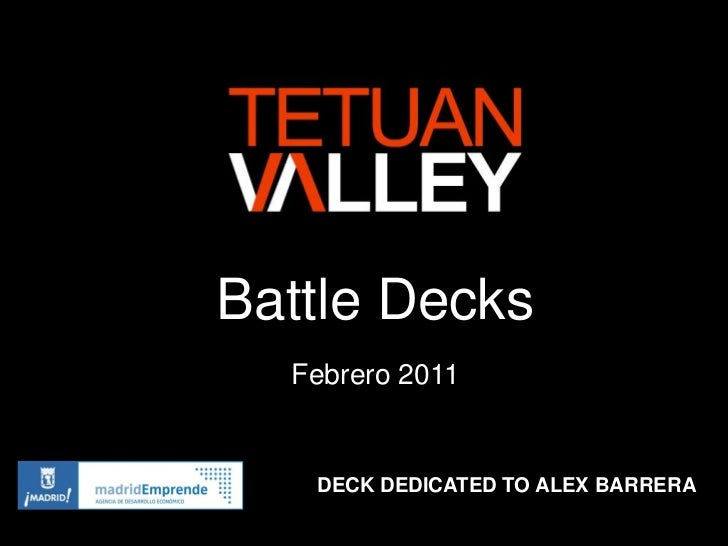 Battle Decks  Febrero 2011   DECK DEDICATED TO ALEX BARRERA