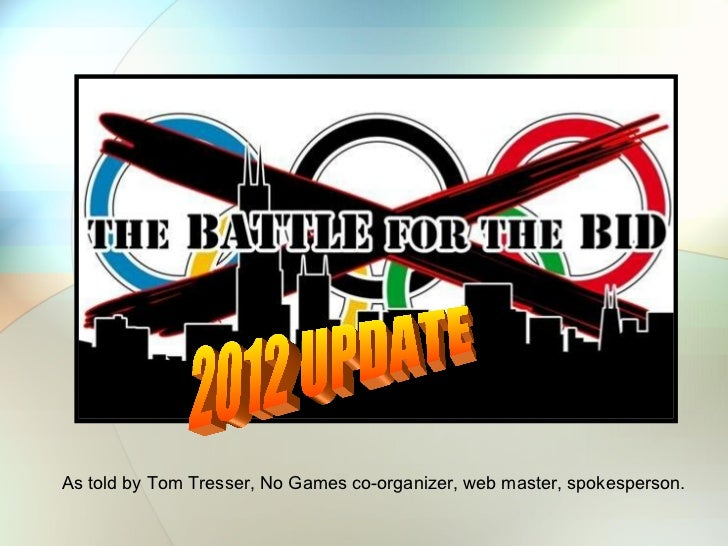 As told by Tom Tresser, No Games co-organizer, web master, spokesperson. 2012 UPDATE