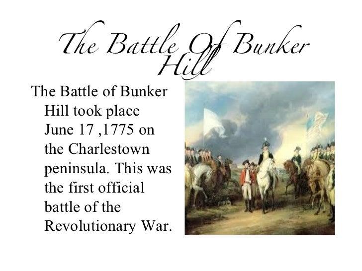Battle Of Bunker Hill Essay