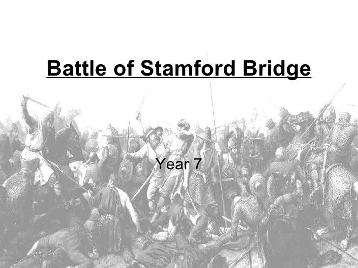 Battle of Stamford Bridge Year 7
