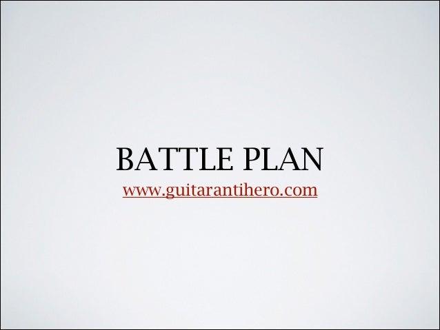 Constructing an Effective Guitar Playing Battle Plan