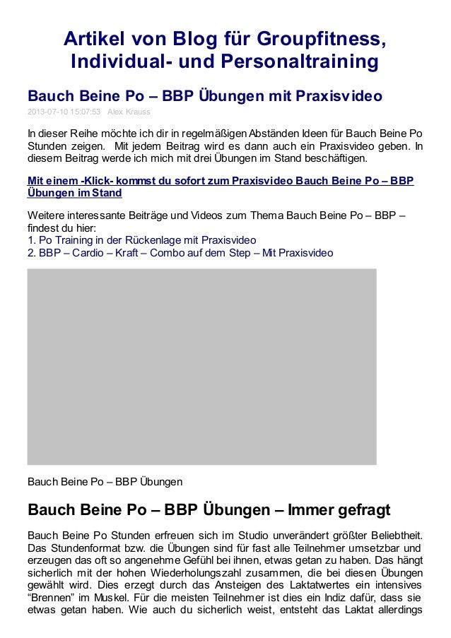 Artikel von Blog für Groupfitness, Individual- und Personaltraining Bauch Beine Po – BBP Übungen mit Praxisvideo 2013-07-1...