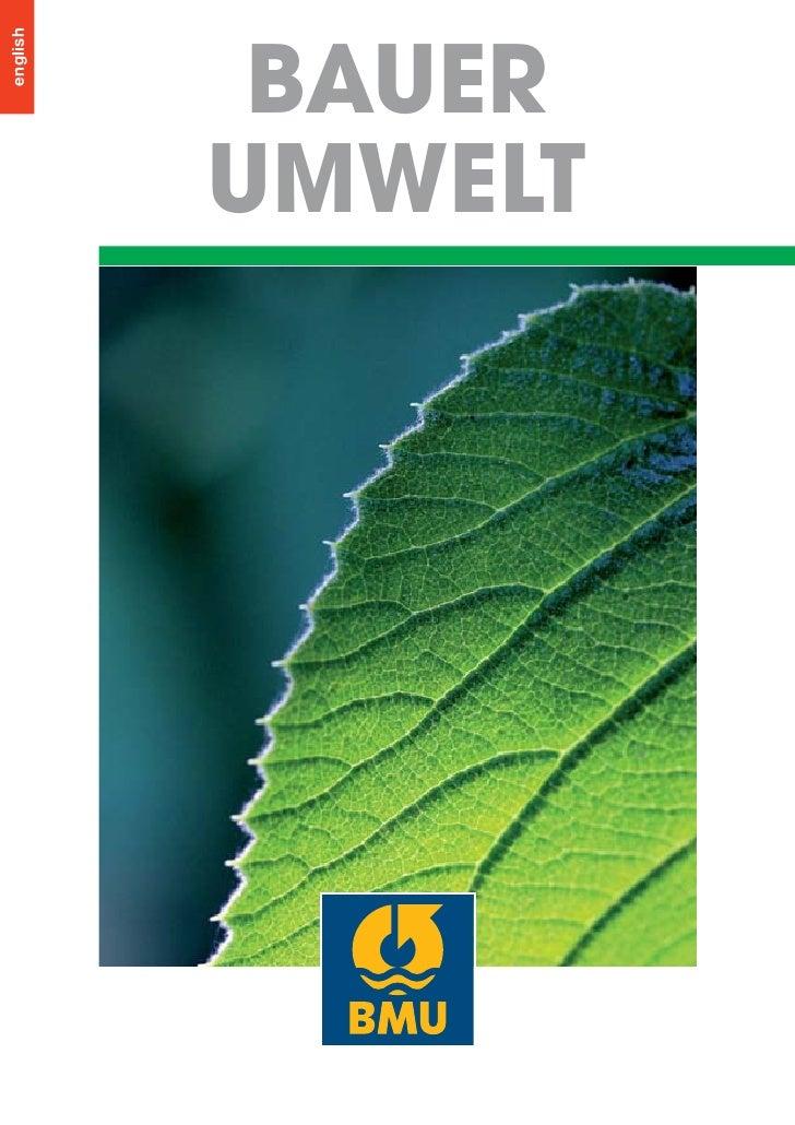 Bauer Environment Brochure
