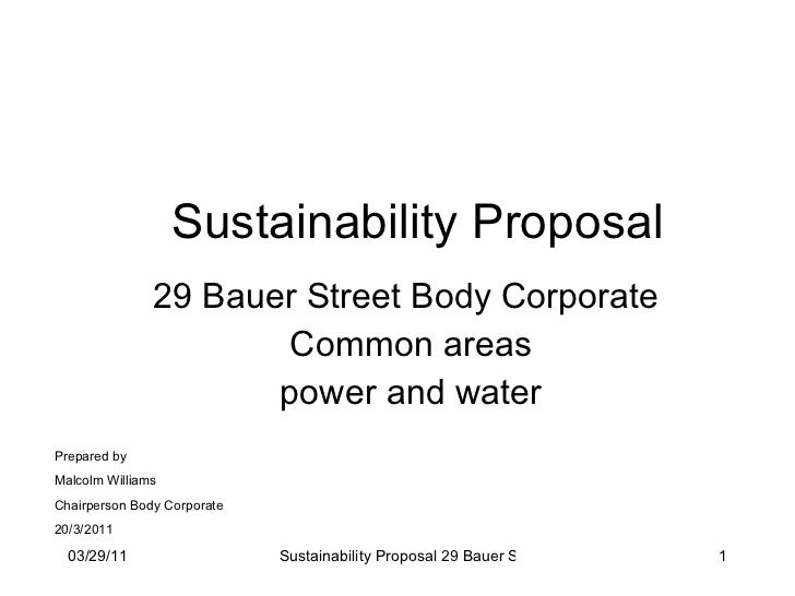 29 Bauer sustainability project