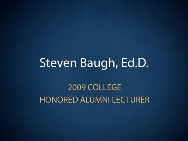 Honored Alumni Lecture