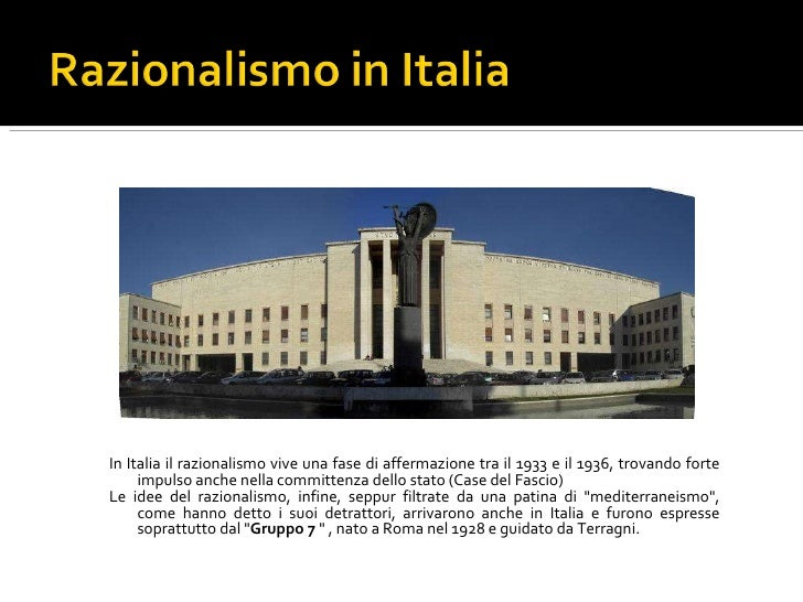 Bauhaus e l 39 architettura razionalista for Architettura razionalista in italia