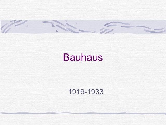 Bauhaus1919-1933