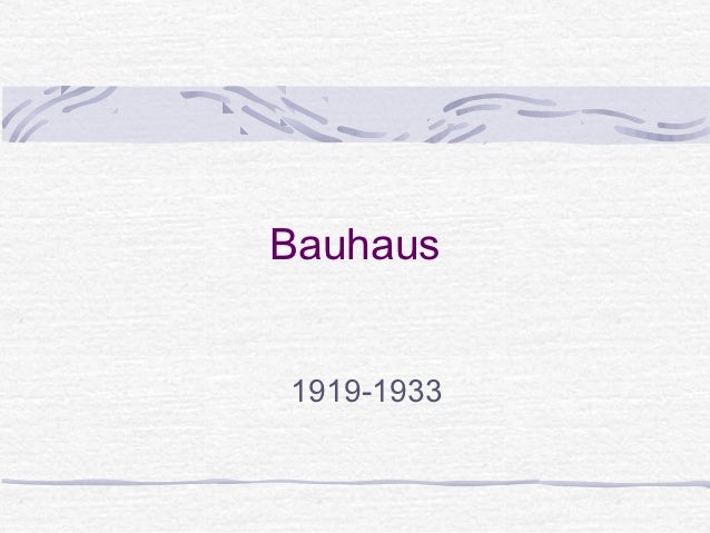 Bauhaus examples