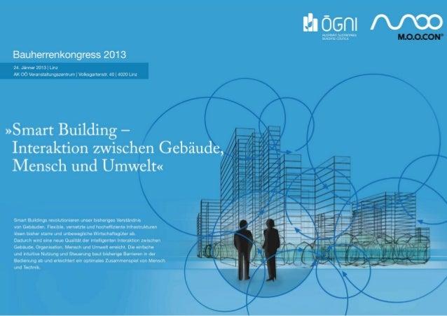 Bauherrenkongress 2013 Einleitung Karl Friedl