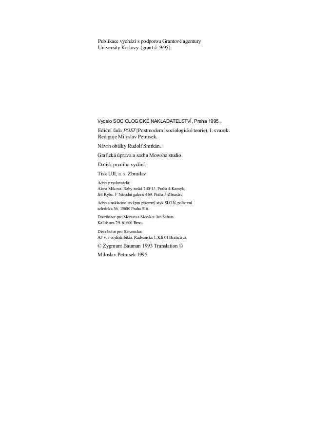 Publikace vychází s podporou Grantové agenturyUniversity Karlovy {grant č. 9/95).Vydalo SOCIOLOGICKÉ NAKLADATELSTVÍ, Praha...