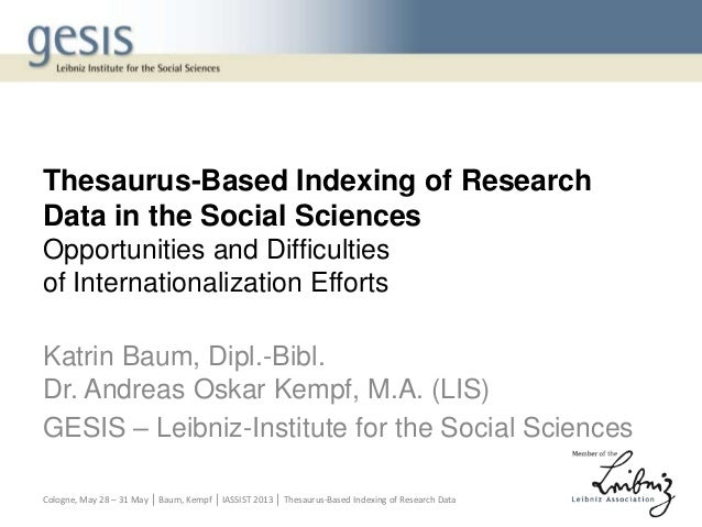 Baum, Kempf: Thesaurus based indexing