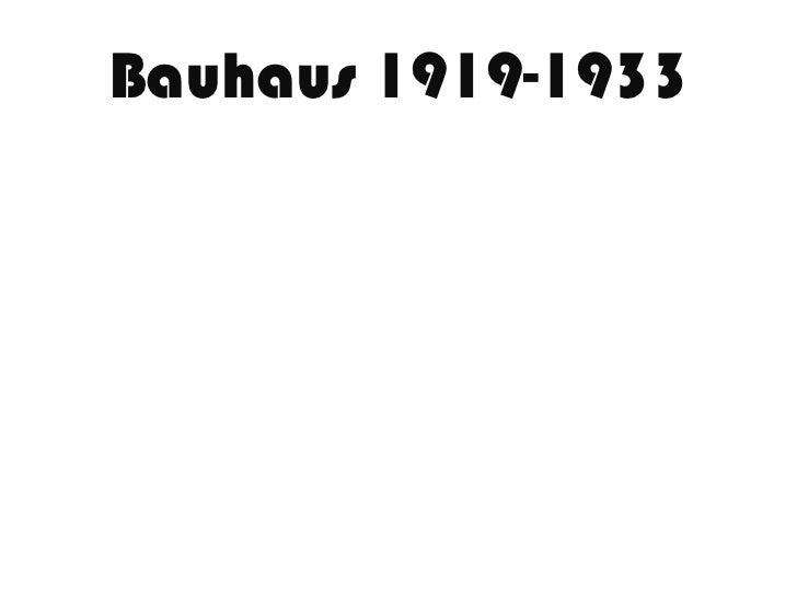 The Origin Of Bauhaus and its influences on The Foundation Program in Arts Education
