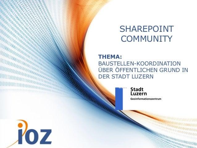 Baustellenkoordination mit SharePoint