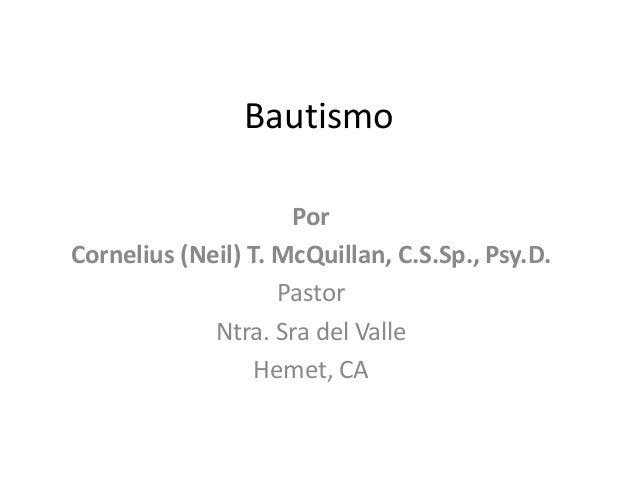 Bautismo - Un Bosqueo Católico de un curso Pre-Bautismal