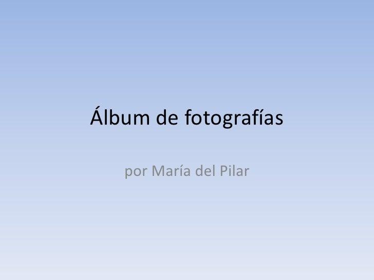 Álbum de fotografías<br />por María del Pilar<br />