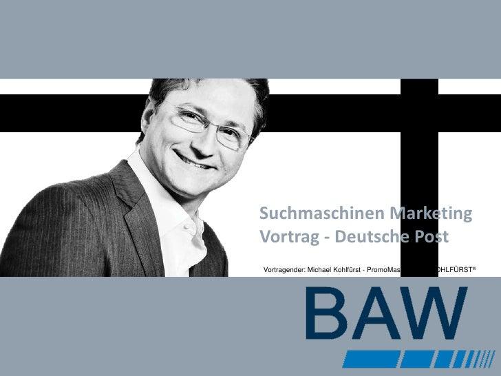 SEM SEO Vortrag an der BAW München