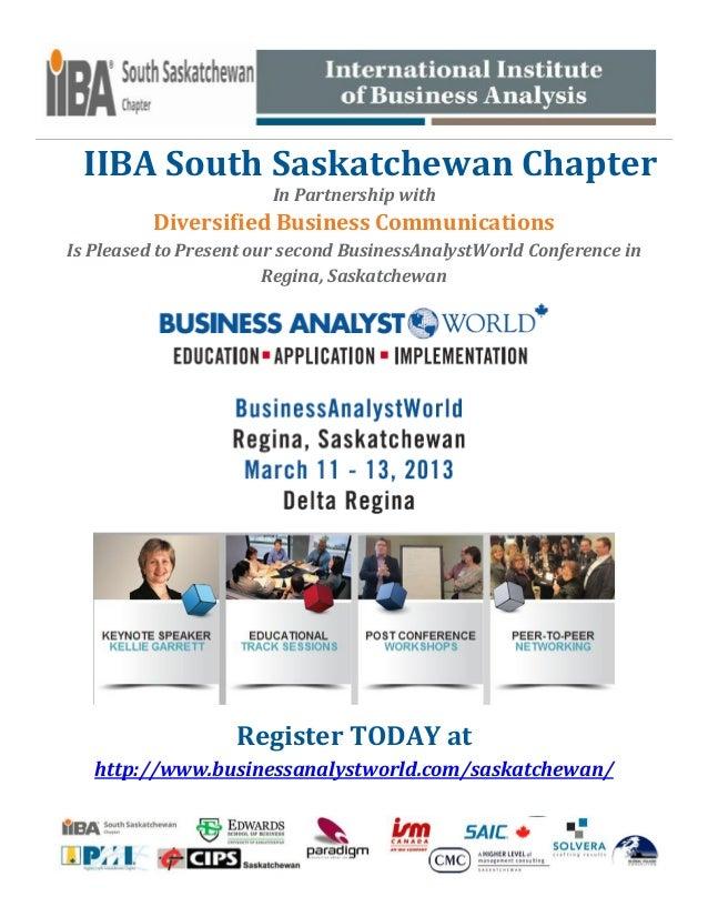Business Analyst World Saskatchewan