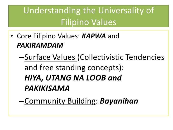 Filipino Values Education of Filipino Values• Core
