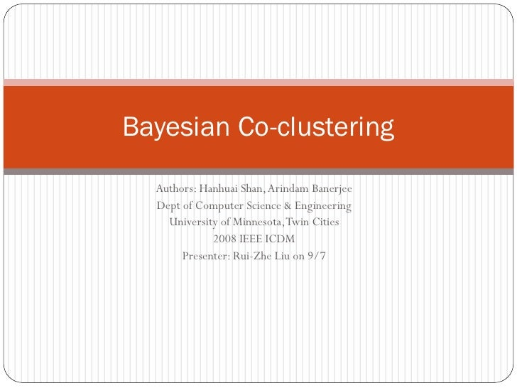 Bayesian Co clustering