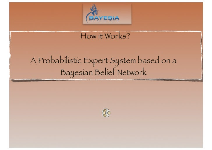 How it Works?   A Probabilistic Expert System based on a         Bayesian Belief Network