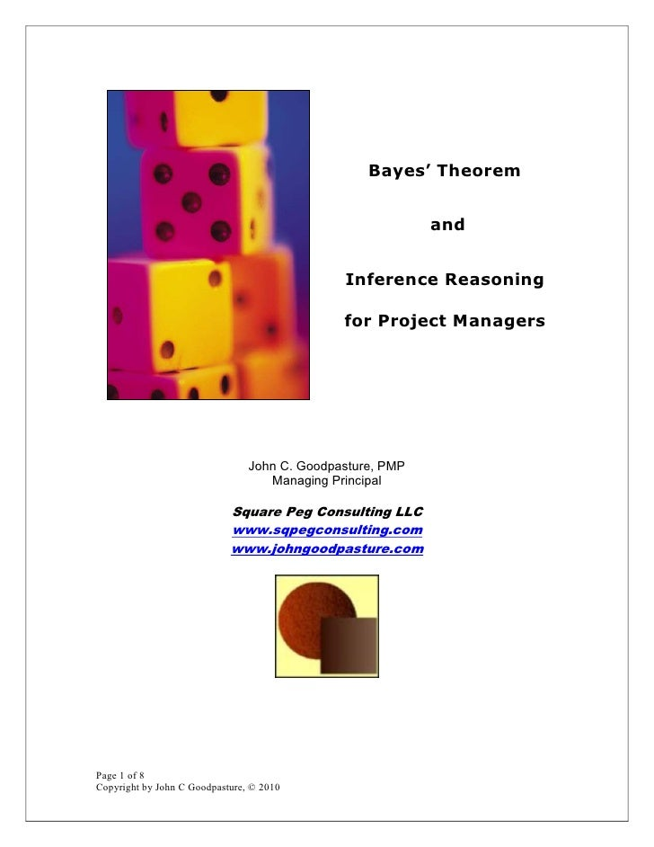 Bayes Theorem and Inference Reasoning for Project Managers