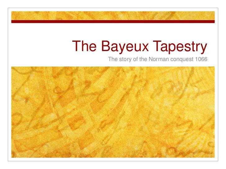 Bayeux Tapestry lesson 1