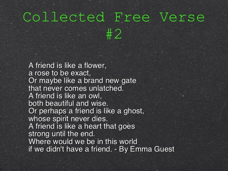 Pics For Gt Free Verse Poems About Friendship