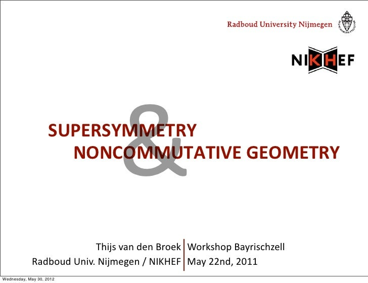 Supersymmetry and non-commutative geometry