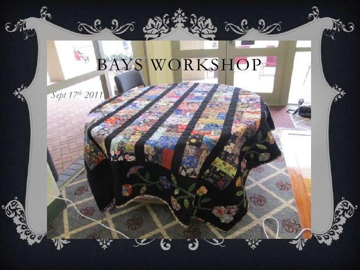 Bays club workshop sept 17th 2011