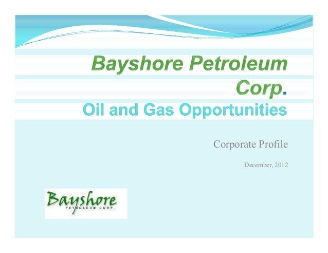 Corporate Profile       December, 2012