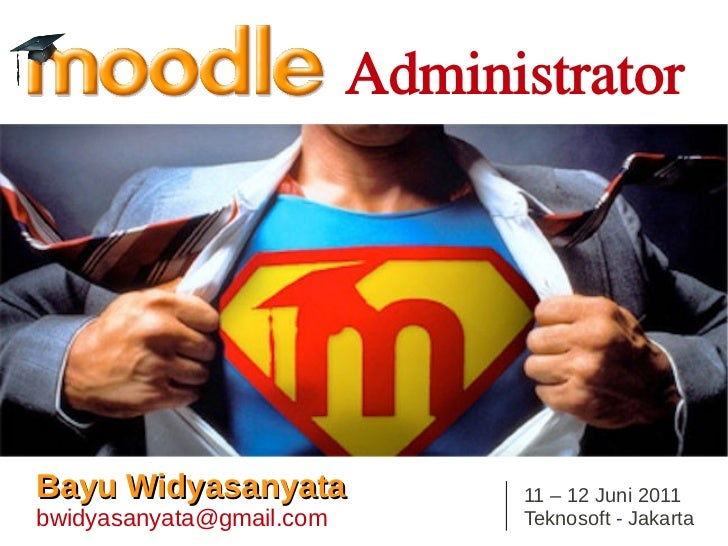 Moodle for administrator