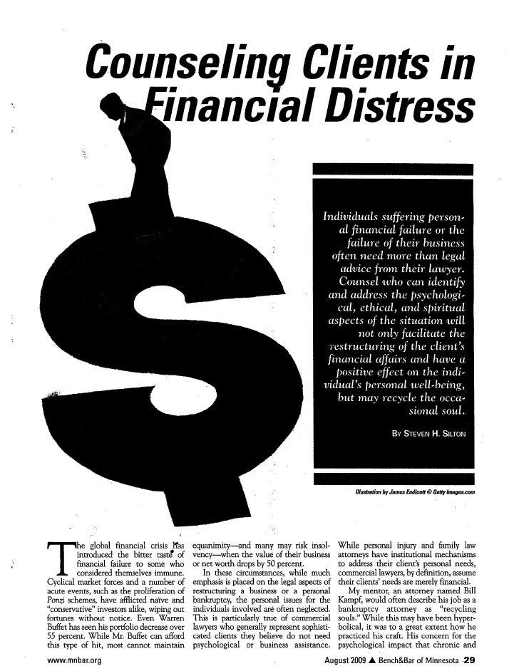 How to Counsel a Financially Distressed Business