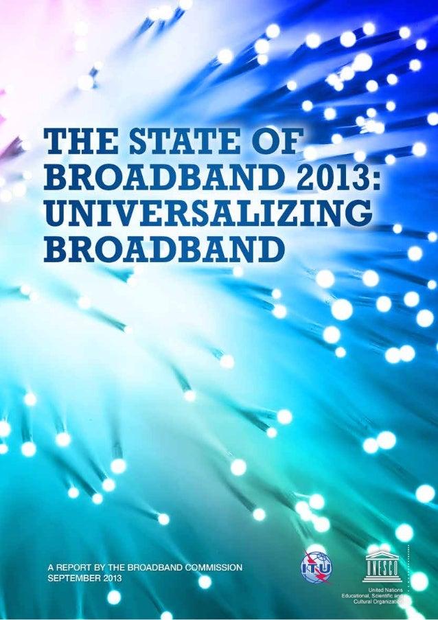 The State of Broadband 2013