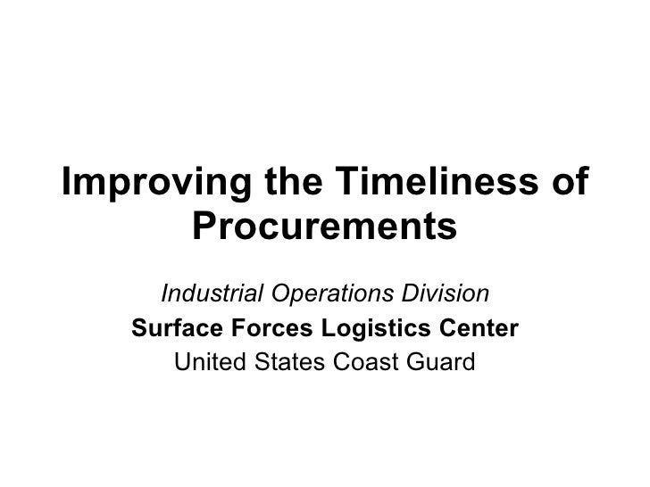 BB Project Overview - Define stage - Improving Timeliness of Industrial Procurements