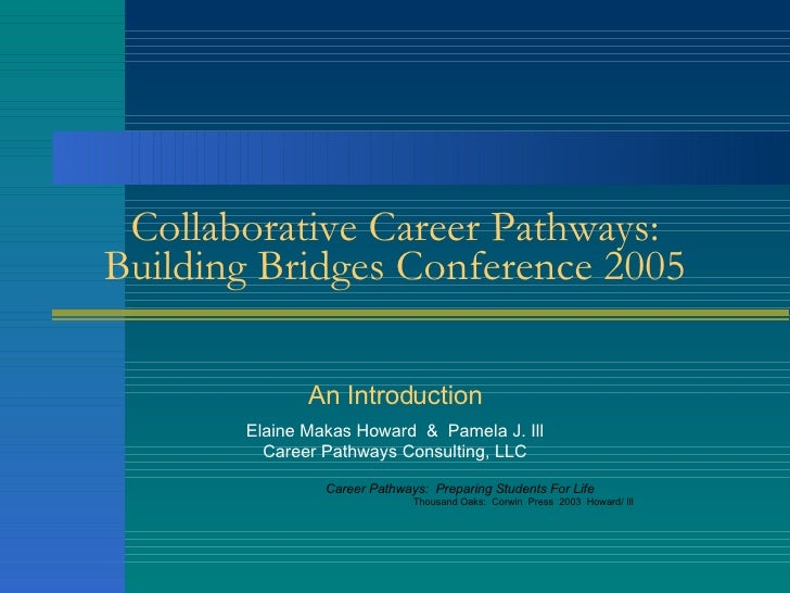 Collaborative Career Pathways: Building Bridges Conference 2005 An Introduction Elaine Makas Howard  &  Pamela J. Ill Care...