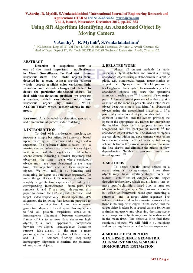 V.Aarthy, R. Mythili, S.Venkatalakshimi / International Journal of Engineering Research and                  Applications ...