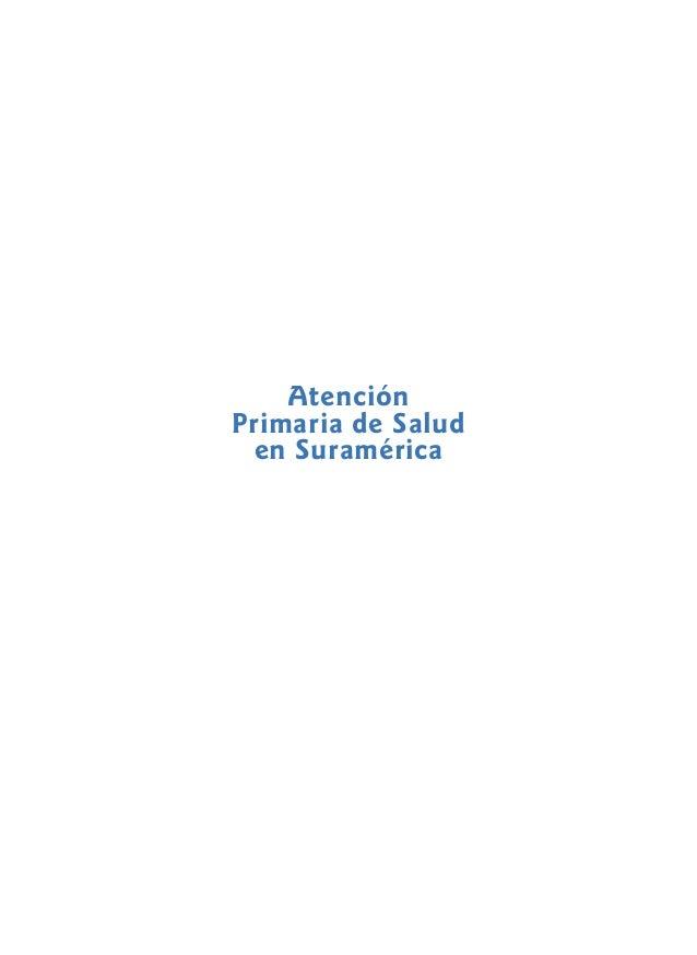Atención Primaria de Salud en Suramérica