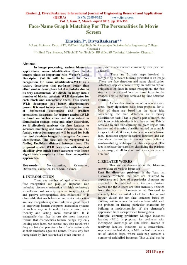 Einstein.J, DivyaBaskaran / International Journal of Engineering Research and Applications                    (IJERA)     ...