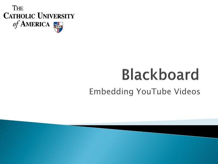 Embedding YouTube Videos
