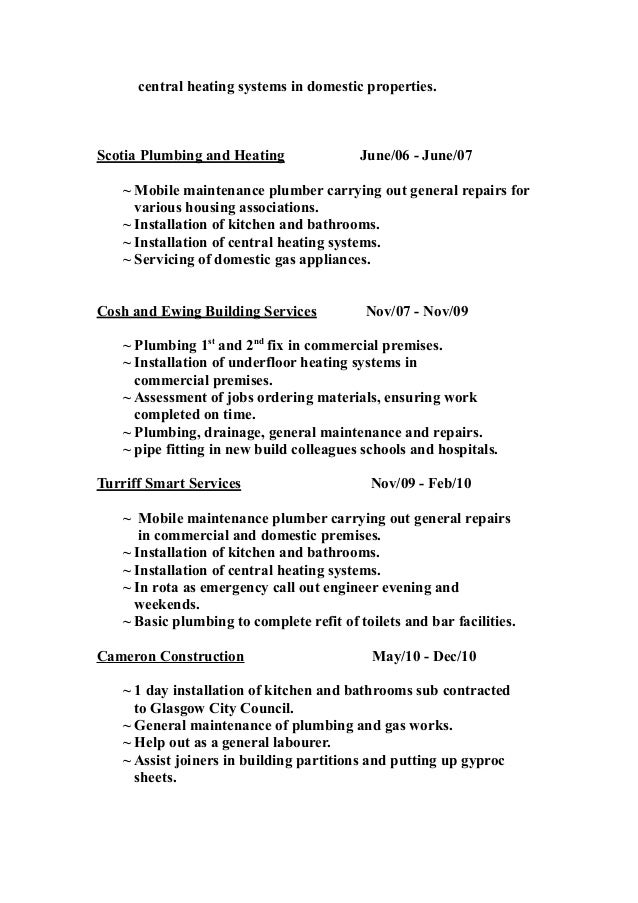 plumber resume skills and responsbilities to highlight plumber resume sample master electrician resume sample seangarrette and
