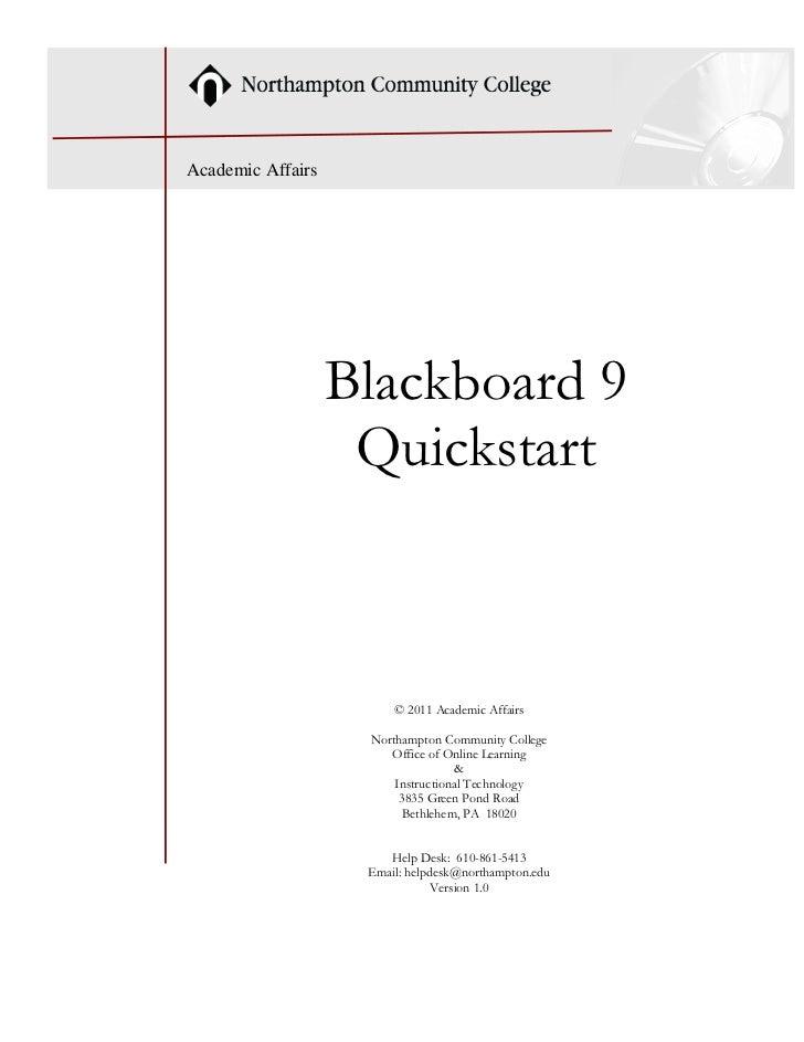 Bb9 Quickstart Guide