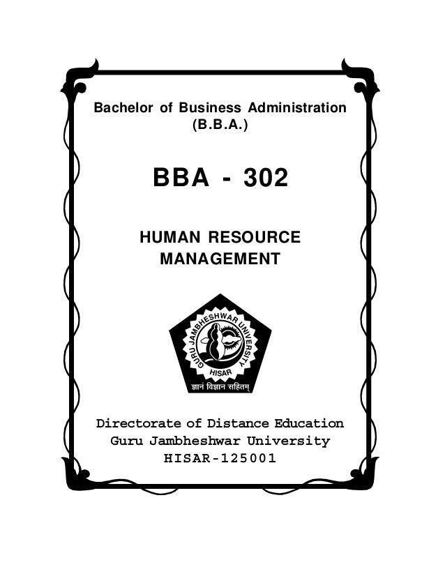 BBA Human Resource Management