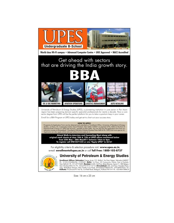 TAKE ADMISSION IN GROWTH ORIENTED BBA PROGRAM IN CORE SECTORS