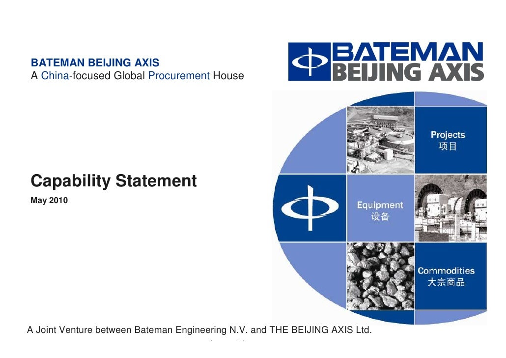 BBA Capability Statement   May 2010