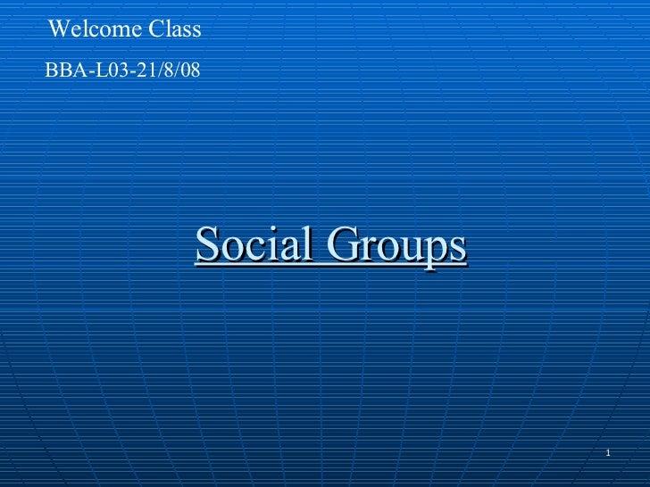 Bba L03 Dt   Social Groups