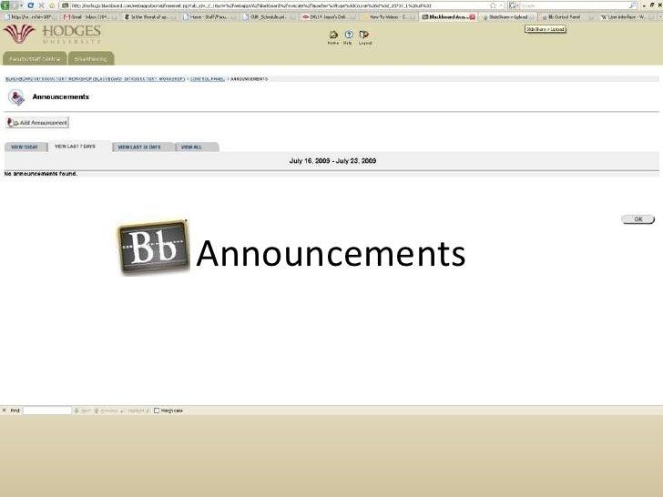 Announcements<br />
