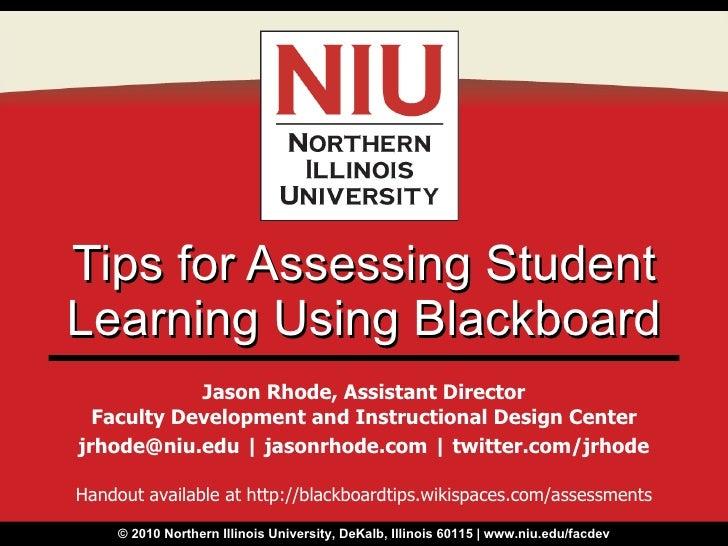 Tips for Assessing Student Learning Using Blackboard