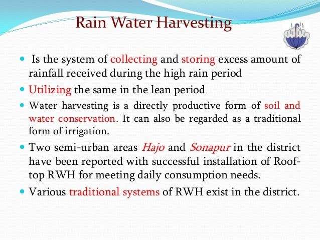 essay on rain water harvesting Rain water harvesting has been used throughout history as a water conservation measure,particularly in regions where other water resources are scarce or difficult to access according tothe us epa, from the last half of the 20th century, the us has enjoyed nearly universal accessto abundant supplies of potable water but as witnessed by the recent [.